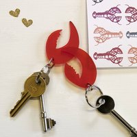 Personalised Pair Of Lobster Claw Keyrings