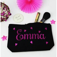 Personalised Hearts Make Up Purse