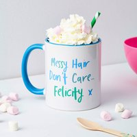 Girls Personalised Messy Hair Mug