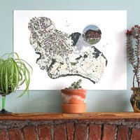 Personalised Hand Drawn Map Illustration Print