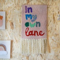 'In My Own Lane' Punch Needle Wall Art