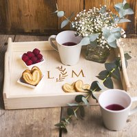 Personalised Serving Tray With Hearts