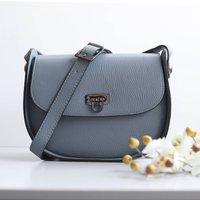 Leather Cross Body Handbag, Denim Blue