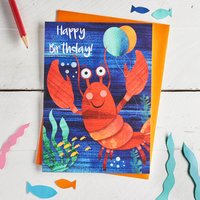 Cute Lobster Happy Birthday Card
