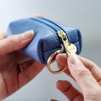 Personalised Mini Leather Keyring Purse