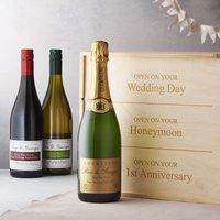 Personalised Wedding Wine Box