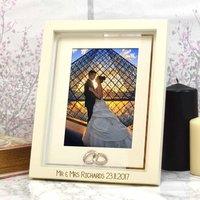 Engraved Wedding Photo Frame
