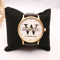 Personalised Handmade Watch With Monogram Design, Silver/Gold/Rose Gold