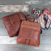 Bobbi Leather Double Zip Backpack
