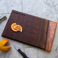 Wood And Resin Serving Platter