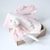 Personalised Baby Girl Pink Gift Set