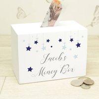 Personalised Wooden Stars Money Box