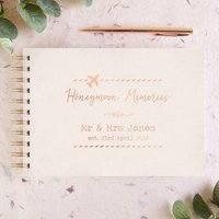 Personalised Foiled Honeymoon Memory Book