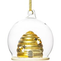Beehive Glass Hanging Decoration