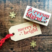 Christmas Merry And Bright Rubber Stamp