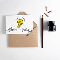 'You Absolute Genius!' Letterpress Card