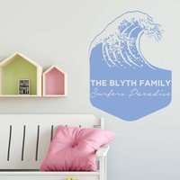 Personalised Wave Wall Sticker