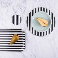 Black And White Striped Tray