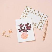 Oxails In Peach Pot Card