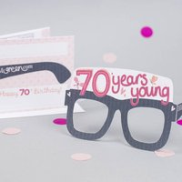 70th Birthday Card Glasses For Her
