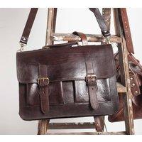 Spitalfields Briefcase, Tan/Chocolate/Black