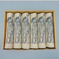 Linen Hare Napkin Gift Set