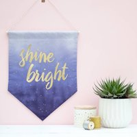 Shine Bright Ombre Hanging Fabric Wall Banner