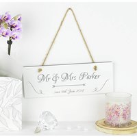 Personalised Mr And Mrs Anniversary Sign