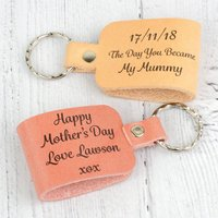 Day You Became Personalised Leather Keyring