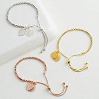 Personalised Mandala Charm Slider Bracelet
