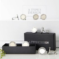 Round Cufflink Wedding Collection Set