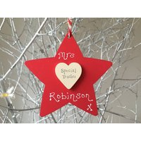 Personalised Thank You Special Teacher Keepsake Star