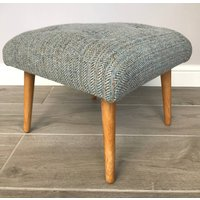 Retro Style Harris Tweed Footstool