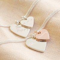 Personalised Sterling Wide Heart Charm Bracelet