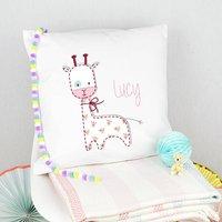 Personalised Children's Giraffe Cushion
