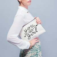 You Go Girl Canvas Pouch