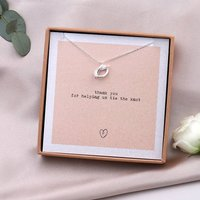 Thank You For Helping Me Tie The Knot Necklace