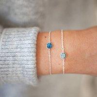Personalised Druzy Bracelet, Silver/Rose Gold/Rose