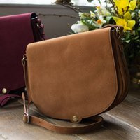 Womens Large Suede Saddle Bag Handbag Nola M