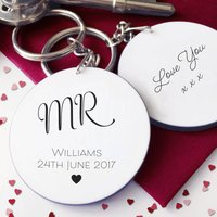 Personalised Mr Wedding Keyring