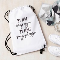 Personalised Head Says Gym Kit Bag