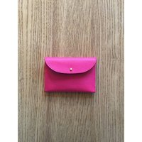 Exmouth Leather Cardholder, Shocking Pink/Pink/Pale Blue