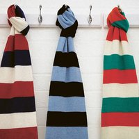 Luxury Cashmere Rugby Scarf In Various Team Colours, Black/Gold/Green