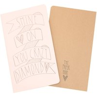 'Shine On You Crazy Diamond' Notebook, Lilac/Yellow/Brown