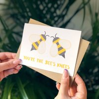 Friendship Thanks Card 'You're The Bee's Knees' Card