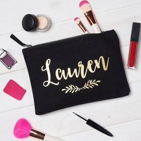 Personalised Laurel Wreath Make Up Bag