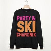 Chamonix Retro Apres Ski Alpine Slogan Sweatshirt