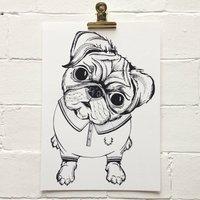 Perry Pug Unframed Art Print