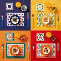 English Breakfast Placemat Coaster Set