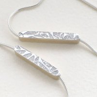 Embossed Necklace And Bracelet Set